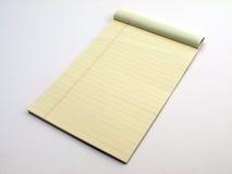 слегка ударенный желтый цвет страницы законной пусковой площадки Стоковые Фото