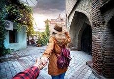 Следовать мной к Тбилиси стоковое фото