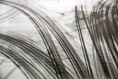 следы автошины асфальта Стоковое фото RF