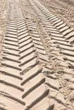 следы автошины песка Стоковые Изображения RF