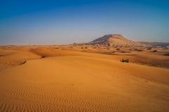 Следы автошины через песчанные дюны пустыни стоковые фотографии rf