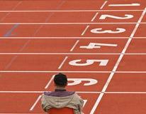 следы атлетики пустые Стоковая Фотография