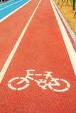 Следы бегунов и велосипедистов Стоковая Фотография
