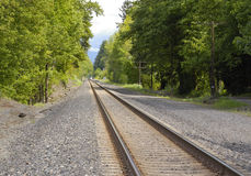следы железной дороги Стоковые Изображения RF