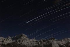 Следы звезды в горах Стоковые Изображения RF