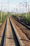Следы и переключатель железной дороги стоковое изображение rf