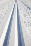 следы катания на лыжах страны перекрестные Стоковая Фотография