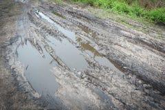 Следы колеса трактора Стоковое Фото
