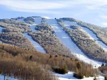 следы лыжи курорта Стоковая Фотография