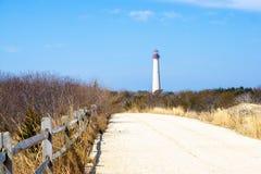 Следы маяка Cape May стоковая фотография rf