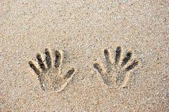 Следы на песке Стоковые Изображения RF