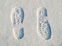 следы ноги направления напротив Стоковое Изображение