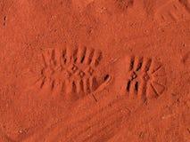 следы ноги ничего Стоковые Изображения RF