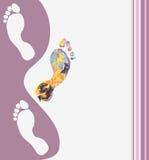 следы ноги пестротканые Стоковые Изображения