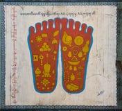 следы ноги buddha2 Стоковая Фотография