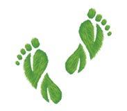 следы ноги eco содружественные Стоковая Фотография