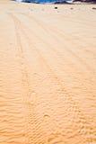 следы поверхности песка десерта Стоковые Фотографии RF