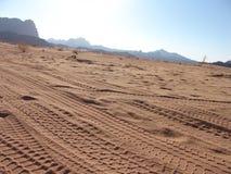 следы пустыни стоковое изображение