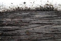 следы снежка грязи стоковое изображение