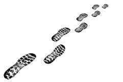 следы черного ботинка предпосылки грубые белые Стоковое фото RF