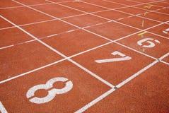следы nummers атлетики Стоковые Фото