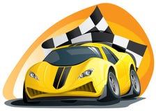 след автомобиля злейший участвуя в гонке иллюстрация вектора