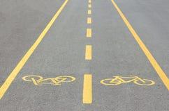 След велосипеда в парке Стоковое Изображение