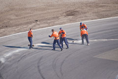 след гонки должностных лиц чистки Стоковые Фотографии RF