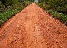след грязной улицы Стоковое Фото