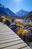 След долины, повар держателя, Новая Зеландия стоковые фото