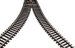 след железной дороги Стоковые Изображения