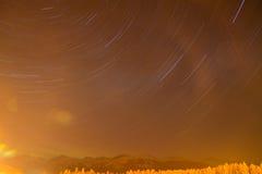 след звезды снежка горы Стоковое Фото