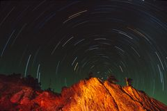 след звезды Стоковая Фотография RF