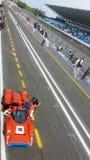 След и трибуна автогонок Стоковая Фотография