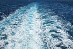 След корабля на океане Стоковая Фотография