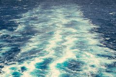 След корабля на океане Стоковые Изображения