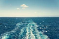 След корабля на океане Стоковое фото RF