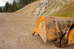 след лопаткоулавливателя землекопа стоковое фото rf