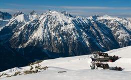 След лыжи Стоковые Изображения RF