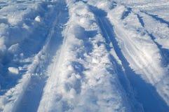 след лыжи Стоковые Фото