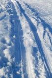 след лыжи Стоковые Изображения