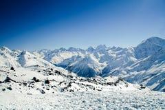 след людей горы elbrus Стоковое фото RF