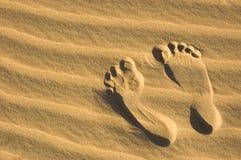 след ноги пляжа Стоковое Изображение RF