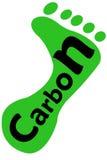след ноги углерода Стоковое фото RF