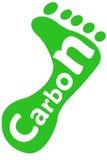 след ноги углерода Стоковые Фото