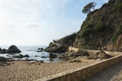 След отклонения к горам Lloret de mar, Испании Стоковые Фото