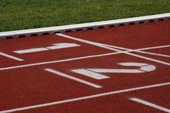 след поля атлетики Стоковые Изображения RF