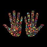 След руки Стоковое Изображение RF