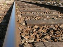 след связей железной дороги рельса Стоковое Изображение RF