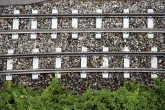 след связей железной дороги Стоковые Фото